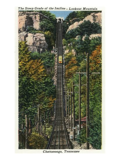 Chattanooga, Tennessee - General View of the Lookout Mountain Incline-Lantern Press-Art Print