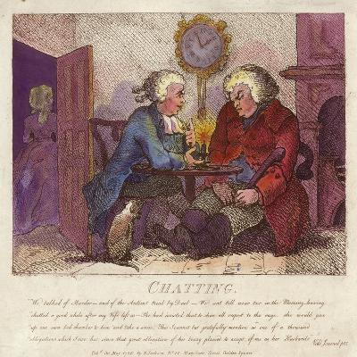 Chatting from Boswell's Hebridean Journey-Thomas Rowlandson-Giclee Print