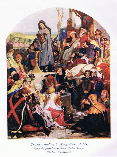 Chaucer Reading to King Edward III-Ford Madox Brown-Giclee Print