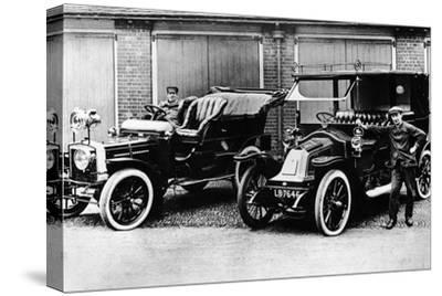 Chauffeurs with a 1906 Daimler and Renault, C1906