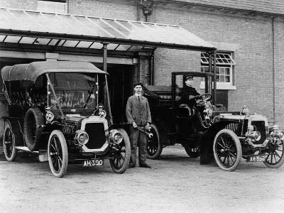 Chauffeurs with their Convertible Cars--Photographic Print