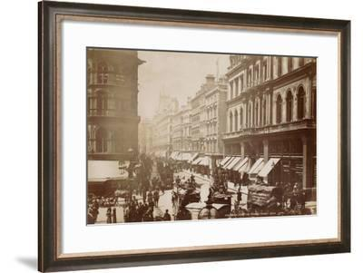 Cheapside from Mansion House, London, C.1885--Framed Photographic Print