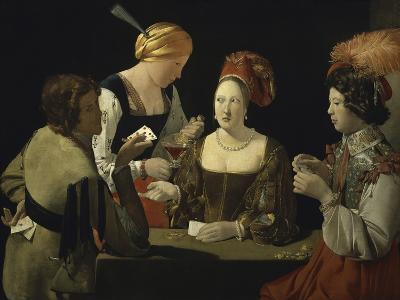 Cheat with c.1635-Georges de La Tour-Giclee Print