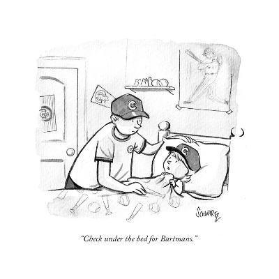 """Check under the bed for Bartmans."" - Cartoon-Benjamin Schwartz-Premium Giclee Print"