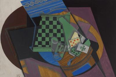Checkerboard and Playing Cards, 1915-Juan Gris-Giclee Print