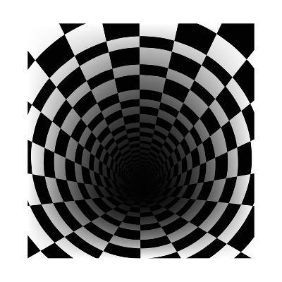 Checkerboard Background With Perspective Effect-Vlada13-Art Print