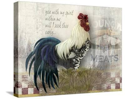 Checkerboard Rooster-Alma Lee-Stretched Canvas Print