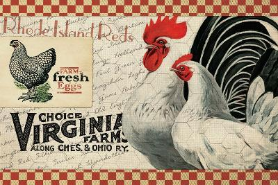 Checkered Chicken 2--Giclee Print