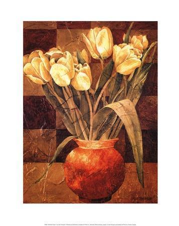 Checkered Tulips I-Linda Thompson-Art Print