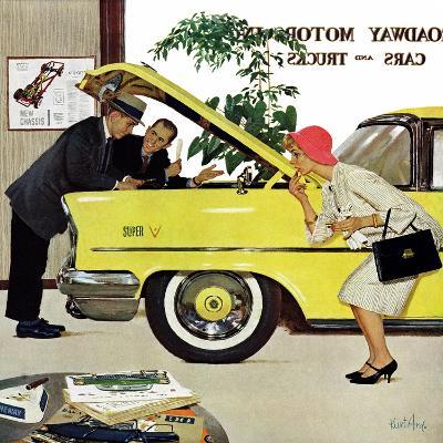 """Checking it Out"", November 15, 1958-Kurt Ard-Giclee Print"