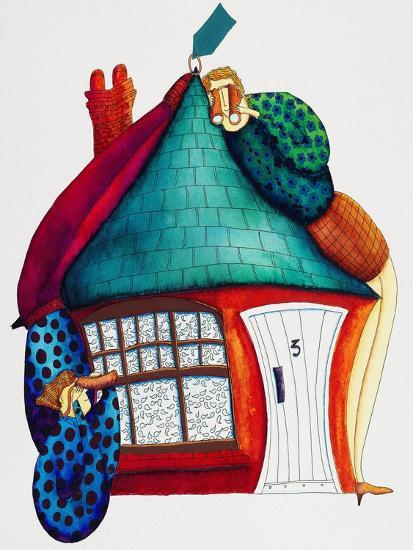 Checking New Home, 1992-Julie Nicholls-Premium Giclee Print