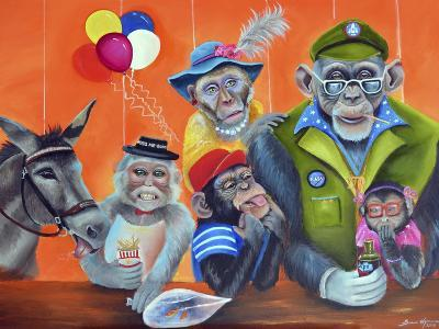 Cheeky Monkey-Sue Clyne-Giclee Print