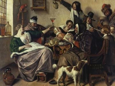 Cheerful Party (The Family of the Painter), about 1657-Jan Havicksz^ Steen-Giclee Print