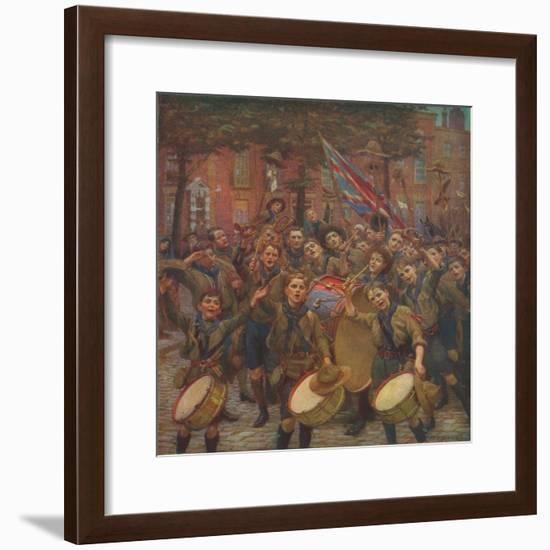 'Cheering the Chief Scout', c1914 (1928)-William Holt Yates Titcomb-Framed Giclee Print