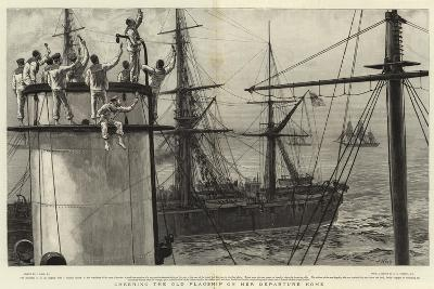 Cheering the Old Flagship on Her Departure Home-Joseph Nash-Giclee Print