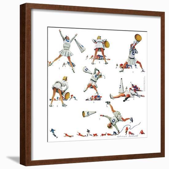 """Cheerleader"", November 25,1961-Norman Rockwell-Framed Giclee Print"
