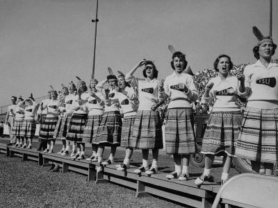 Cheerleaders at Florida State University--Photographic Print