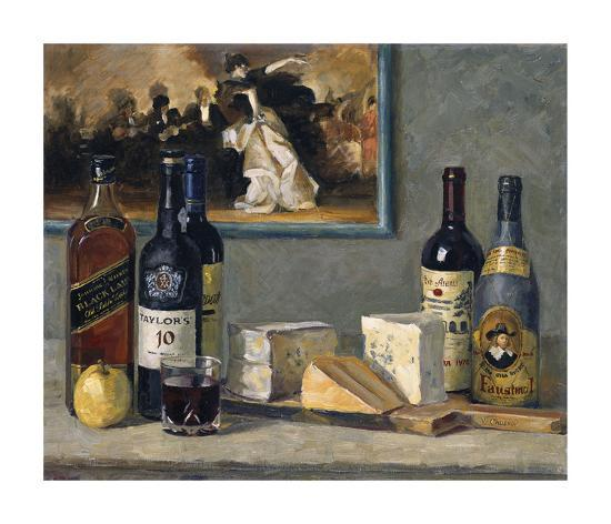 Cheese and Wine-Valeriy Chuikov-Premium Giclee Print