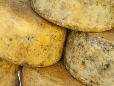 Cheese in the Market, Ajaccio, Corsica, Europe-Craig Easton-Photographic Print