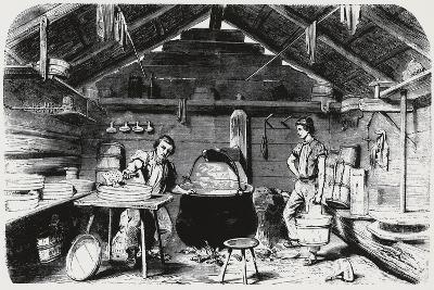 Cheese Making, Italy, 19th Century--Giclee Print