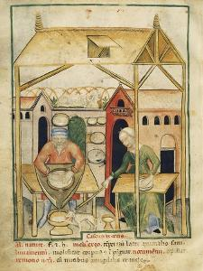 Cheese Production Miniature from the Tacuinum Sanitatis