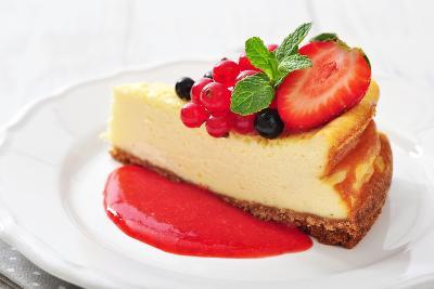 Cheesecake with Fresh Berries-tashka2000-Photographic Print