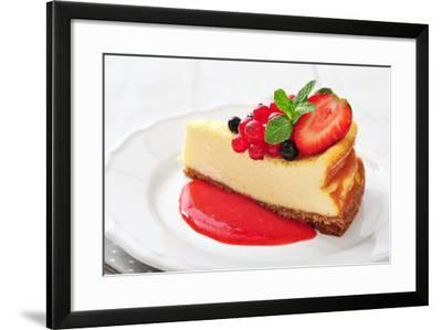 Cheesecake with Fresh Berries-tashka2000-Framed Photographic Print