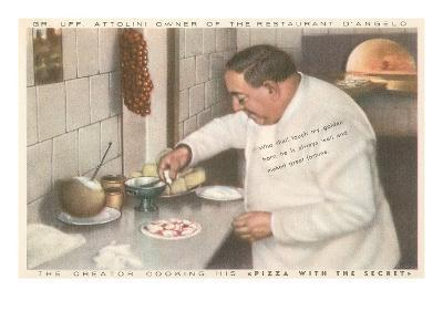 Chef Attolini Making Pizza--Art Print