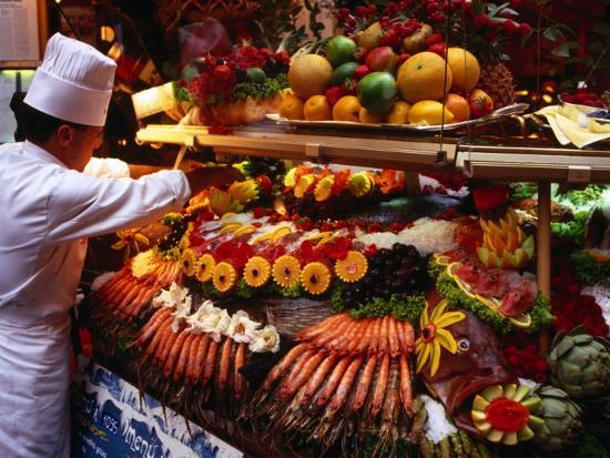 Chef Creating Restaurant Display, Brussels, Belgium-Rick Gerharter-Photographic Print