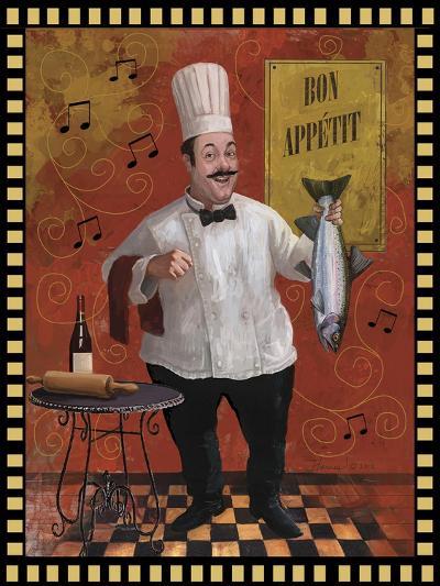 Chef Fish Master Design-Frank Harris-Giclee Print