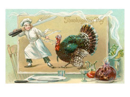 Chef Leading Turkey--Art Print
