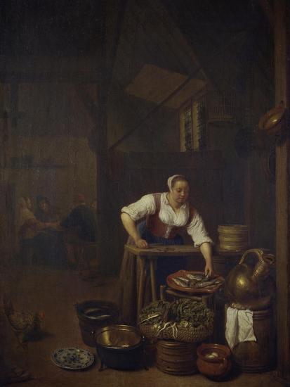 Chef Preparing Food-Hendrik Martensz Sorgh-Giclee Print