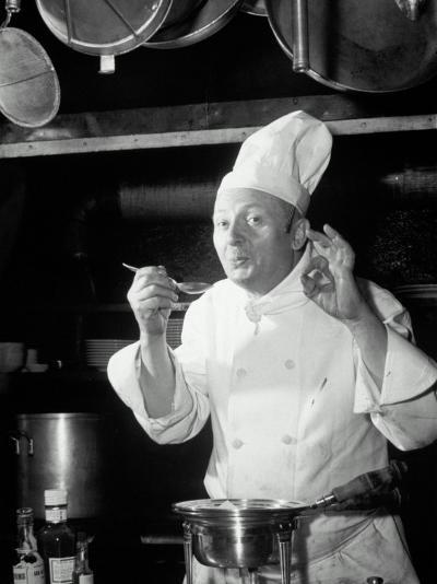 Chef Tasting Food, Ok Sign, 1942-Lambert-Photographic Print