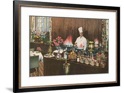 Chef with Elaborate Buffet--Framed Art Print
