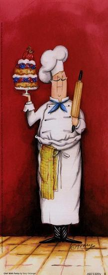Chef With Pastry-Tracy Flickinger-Art Print