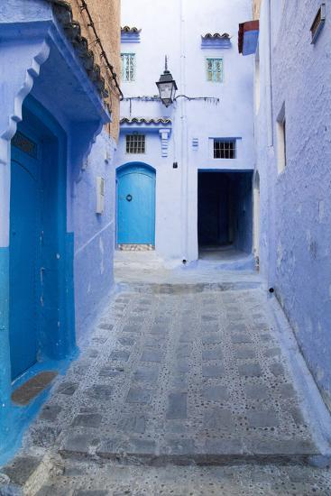 Chefchaouen, Morocco. Narrow Alleyways for Foot Traffic Only-Emily Wilson-Photographic Print