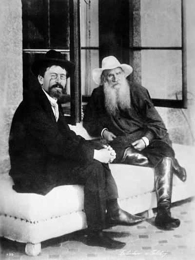 Chekhov and Tolstoy, Late 19th Century--Giclee Print