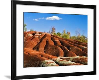 Cheltenham Badlands near Inglewood, Ontario-Andrew McLachlan-Framed Photographic Print