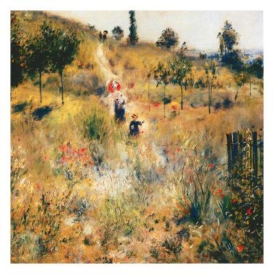 Chemin montant dans les hautes herbes-Pierre-Auguste Renoir-Art Print