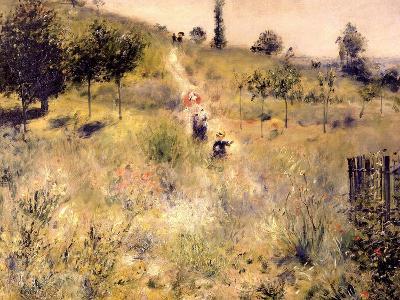 Chemin montant dans les hautes herbes-Pierre-Auguste Renoir-Giclee Print