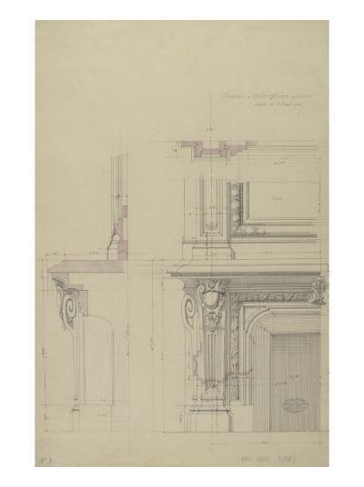 Cheminée  et partie inférieure  de son encadrement-Antoine Zoegger-Giclee Print