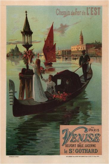 Chemins De Fer De L'Est, 1890-Frédéric Hugo d'Alesi-Giclee Print