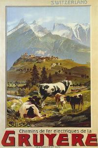 Chemins De Fer De La Gruyere 1906