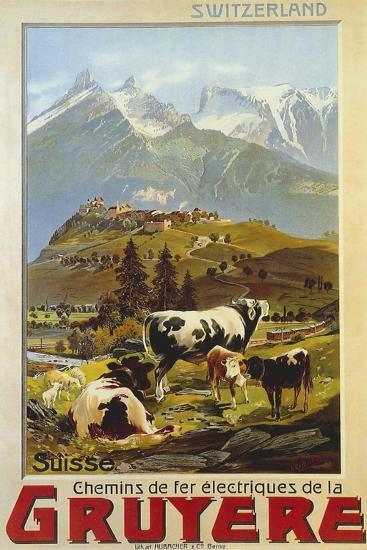Chemins De Fer De La Gruyere 1906--Giclee Print