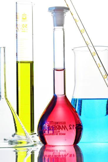 Chemistry Glass-ware-Sigrid Gombert-Photographic Print