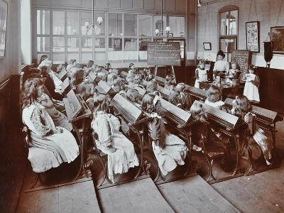 Chemistry Lesson, Albion Street Girls School, Rotherhithe, London, 1908--Photographic Print
