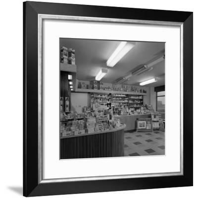 Chemists Shop Interior, Armthorpe, Near Doncaster, South Yorkshire, 1961-Michael Walters-Framed Photographic Print