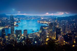 Before Sunrise, the Peak, Hong Kong by Chen Xi