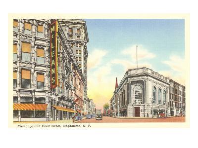Chenango and Court Streets, Binghamton, New York--Art Print