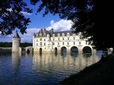 Chenonceau Castle, Loire, View of Chateau Through Trees-Marcel Malherbe-Photographic Print